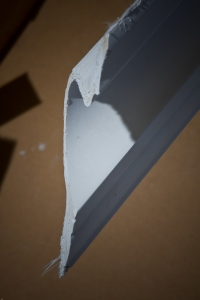 Plasterglass cornice mitre