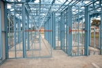 Setting out steel framing