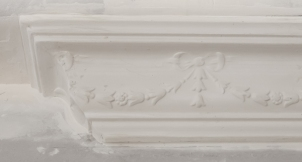 Ornate cornice with a repeating pattern